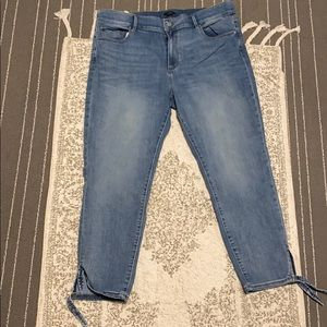 Ann Taylor stretch ankle skinny jeans